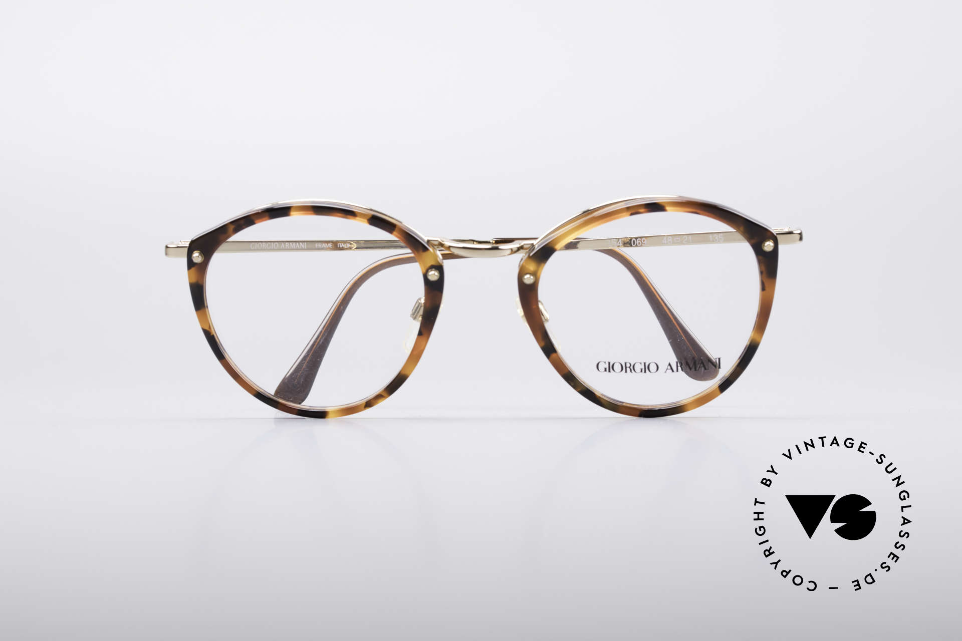 Giorgio Armani 354 No Retro Glasses 80's Frame, demo lenses can be replaced with optical or sun lenses, Made for Men and Women