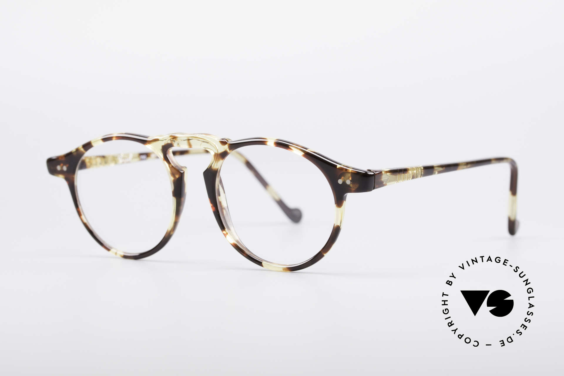 Persol 750 Ratti 80's Panto Glasses, great frame pattern (amber) and flexible temples, Made for Men and Women