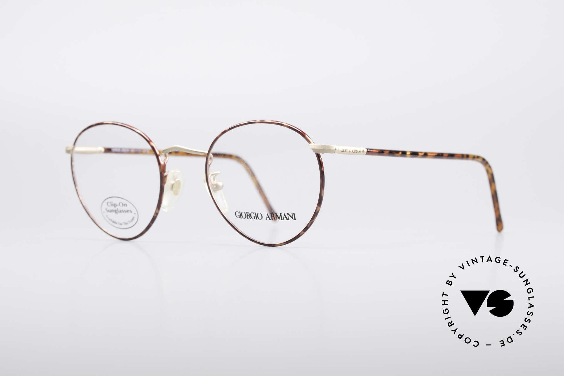Giorgio Armani 186 Classic 90's Panto Frame, true 'gentlemen glasses' in tangible premium-quality, Made for Men