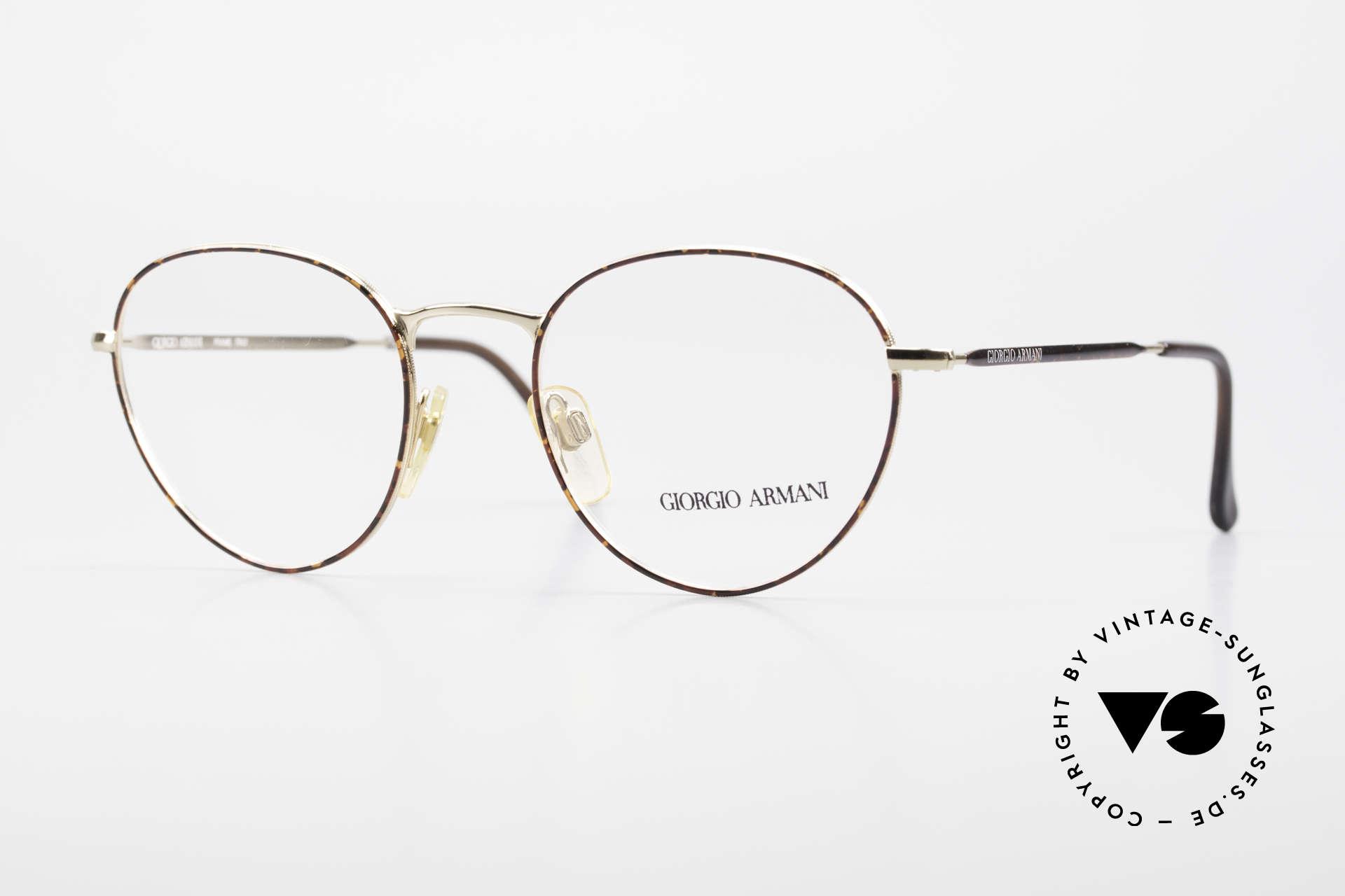 Giorgio Armani 165 Panto Vintage Glasses 80s 90s, world famous 'panto'-design .. a real eyewear classic, Made for Men