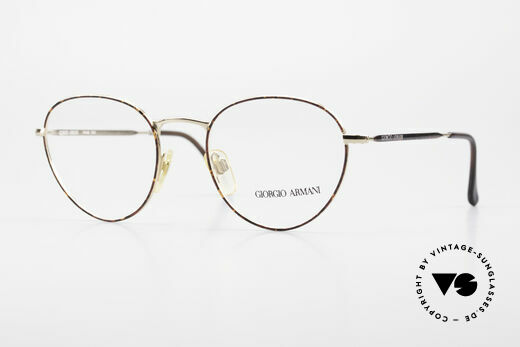 Giorgio Armani 165 Panto Vintage Glasses 80s 90s Details