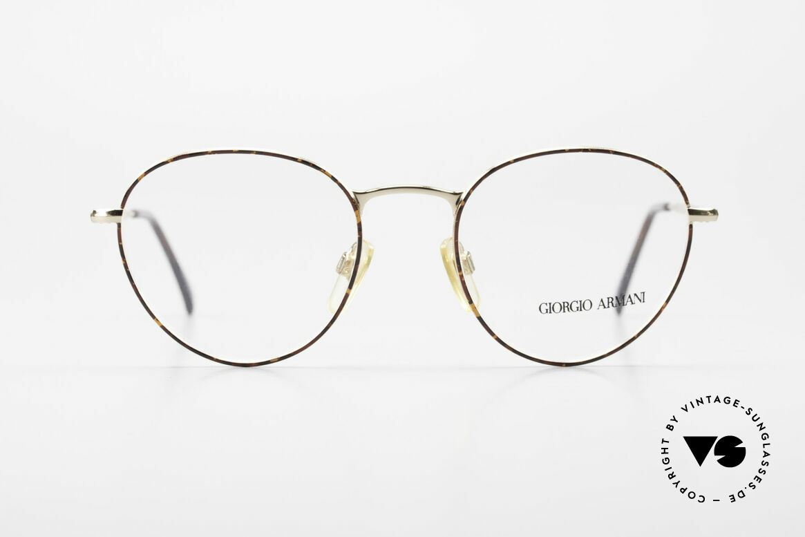 Giorgio Armani 165 Panto Vintage Glasses 80s 90s, timeless vintage Giorgio Armani designer eyeglasses, Made for Men