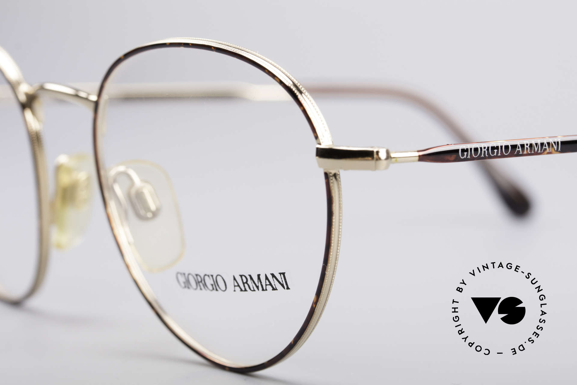 "Giorgio Armani 165 Panto Vintage Glasses, almost a ""spiritual or intellectual"" eyeglass' design, Made for Men"