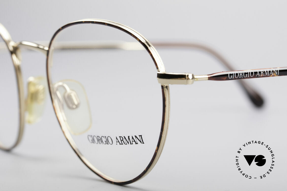 "Giorgio Armani 165 Panto Vintage Glasses 80s 90s, almost a ""spiritual or intellectual"" eyeglass' design, Made for Men"