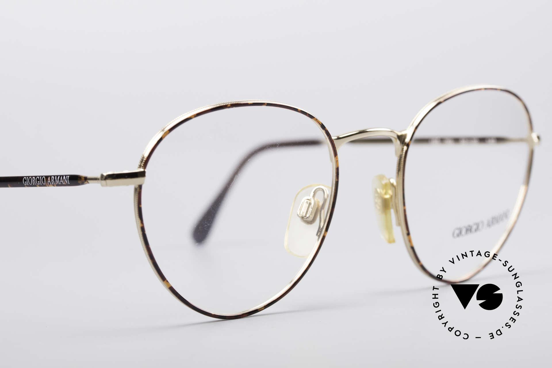 Giorgio Armani 165 Panto Vintage Glasses 80s 90s, unworn (like all our vintage GIORGIO Armani frames), Made for Men