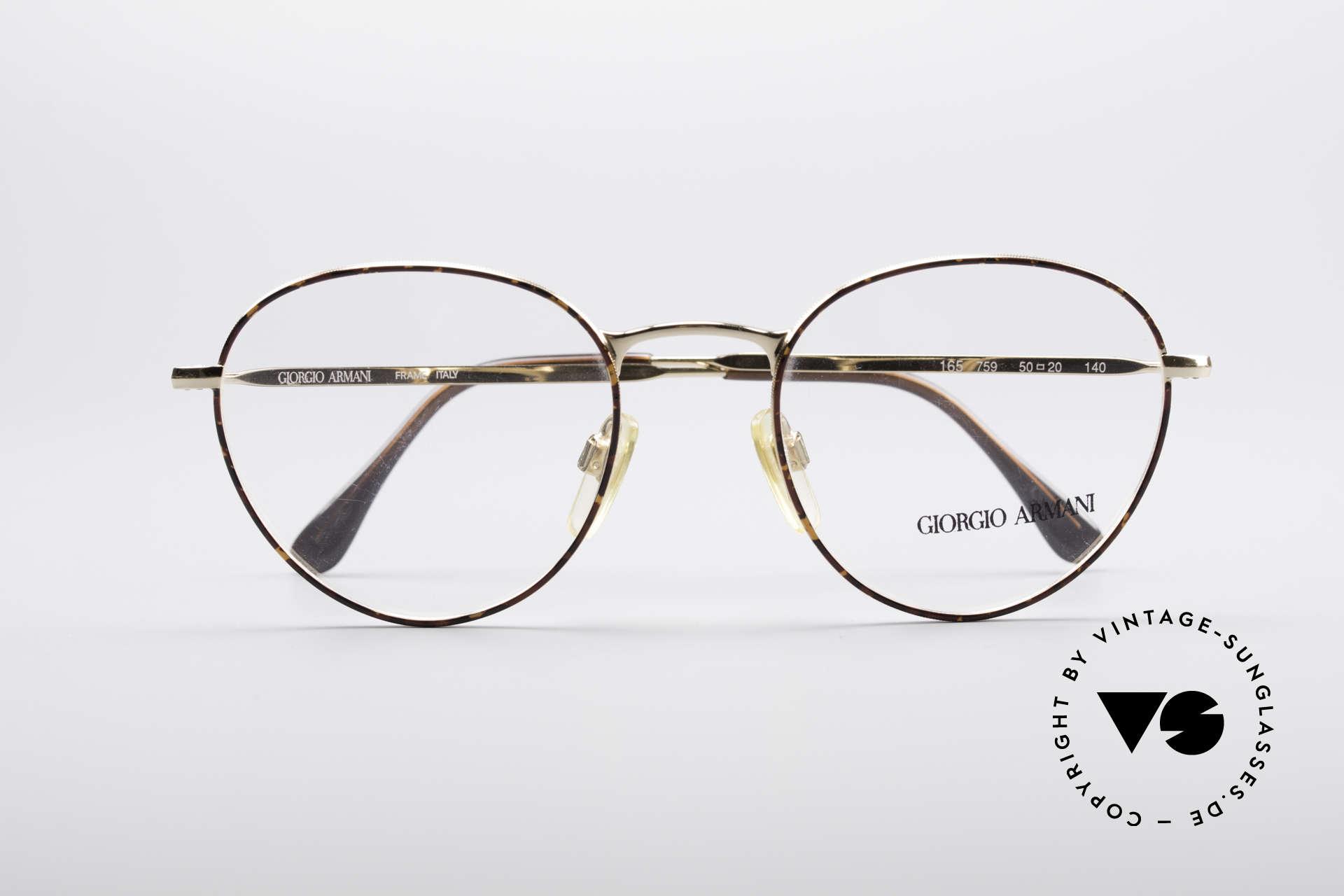 Giorgio Armani 165 Panto Vintage Glasses 80s 90s, NO retro specs, but a unique 30 years old ORIGINAL!, Made for Men