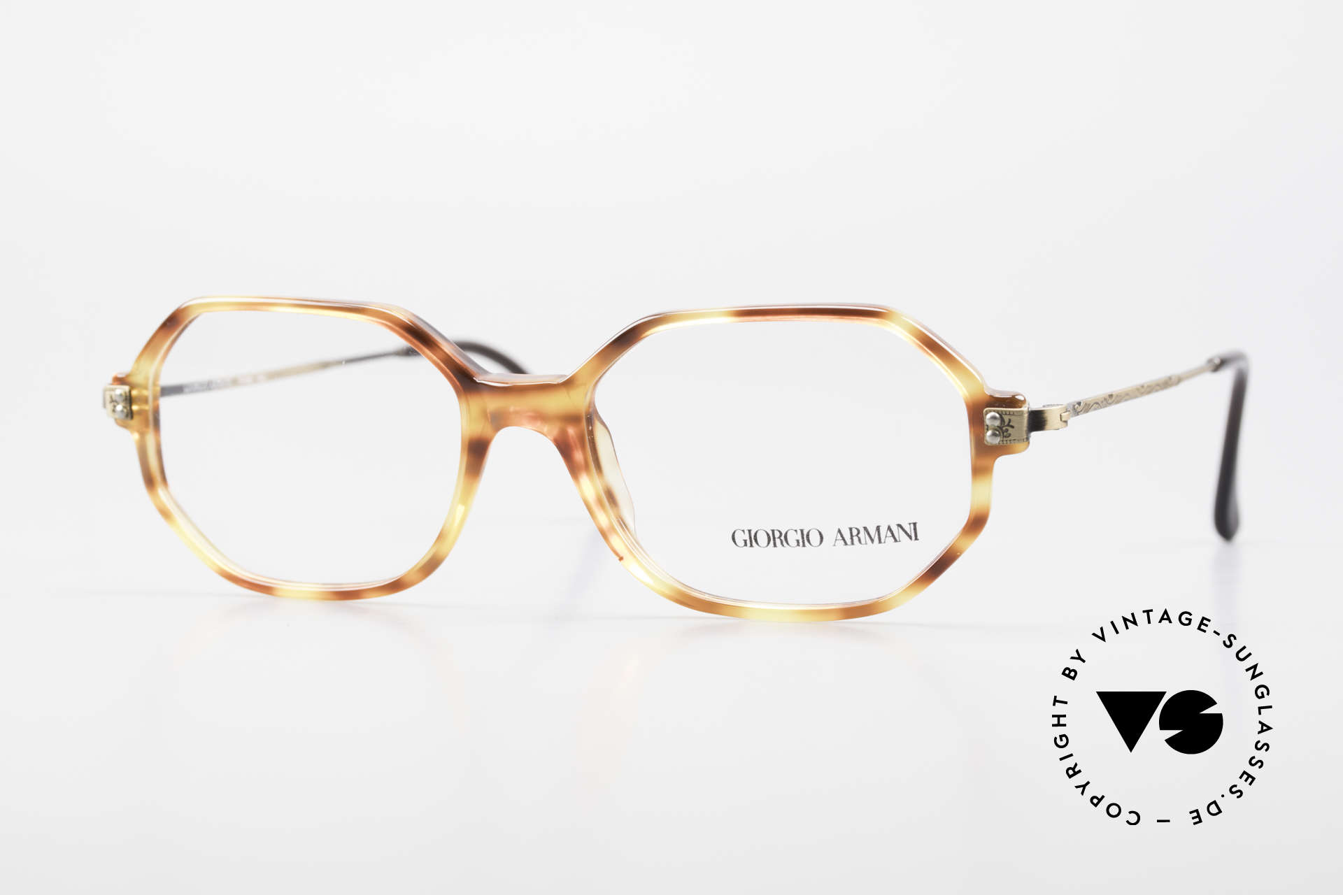 Giorgio Armani 349 No Retro Glasses Vintage Frame, wispy frame (lightweight) in discreet coloring, Made for Men and Women