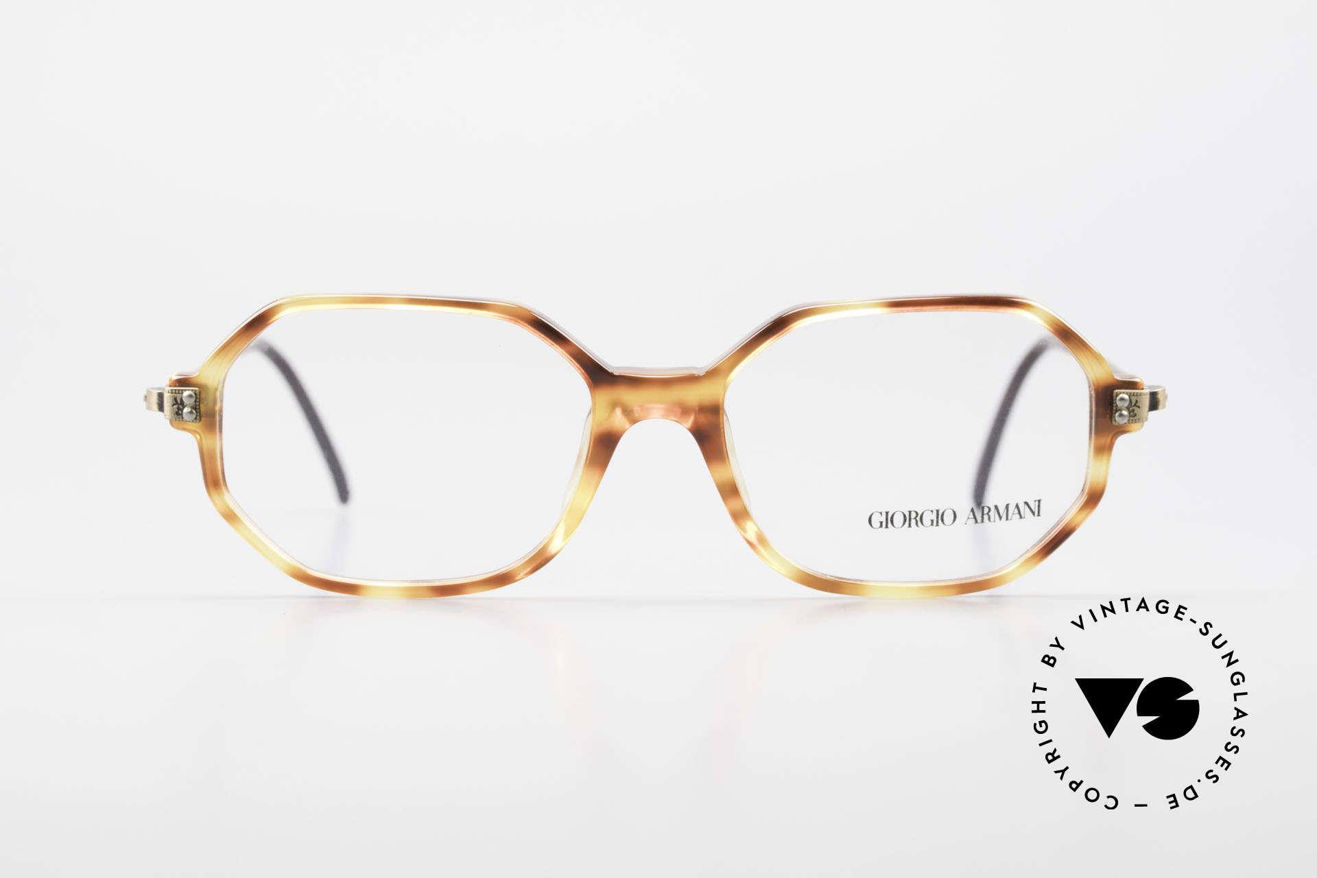 Giorgio Armani 349 No Retro Glasses Vintage Frame, octagonal GIORGIO Armani vintage eyeglasses, Made for Men and Women