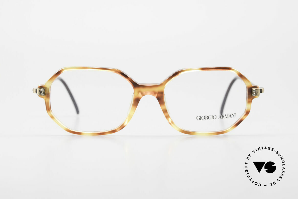 Giorgio Armani 349 No Retro Glasses Vintage Frame, octagonal GIORGIO Armani vintage eyeglasses, Made for Men and Women