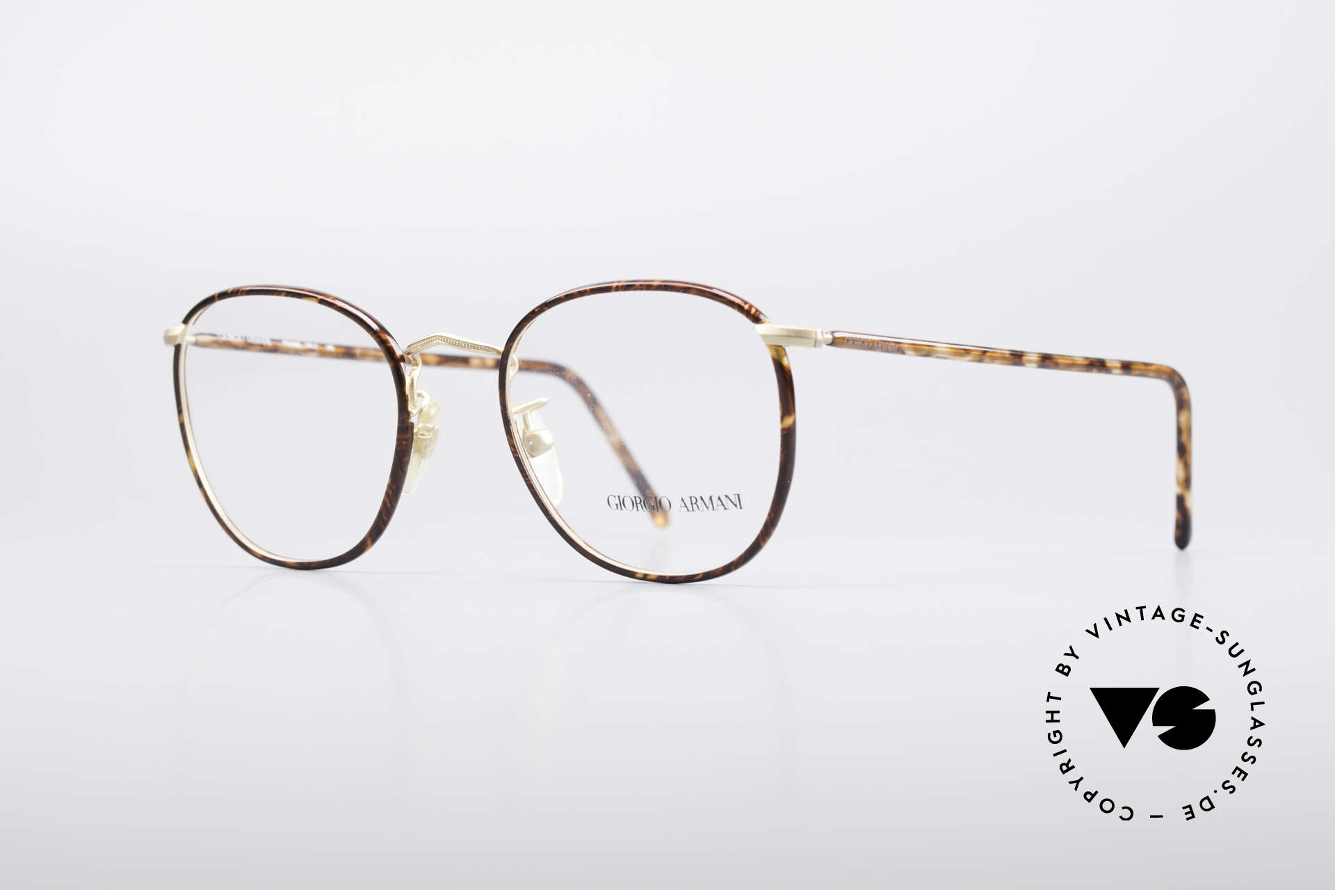 Giorgio Armani 141 Square Panto Glasses, a combination of chestnut brown / tortoise and gold, Made for Men