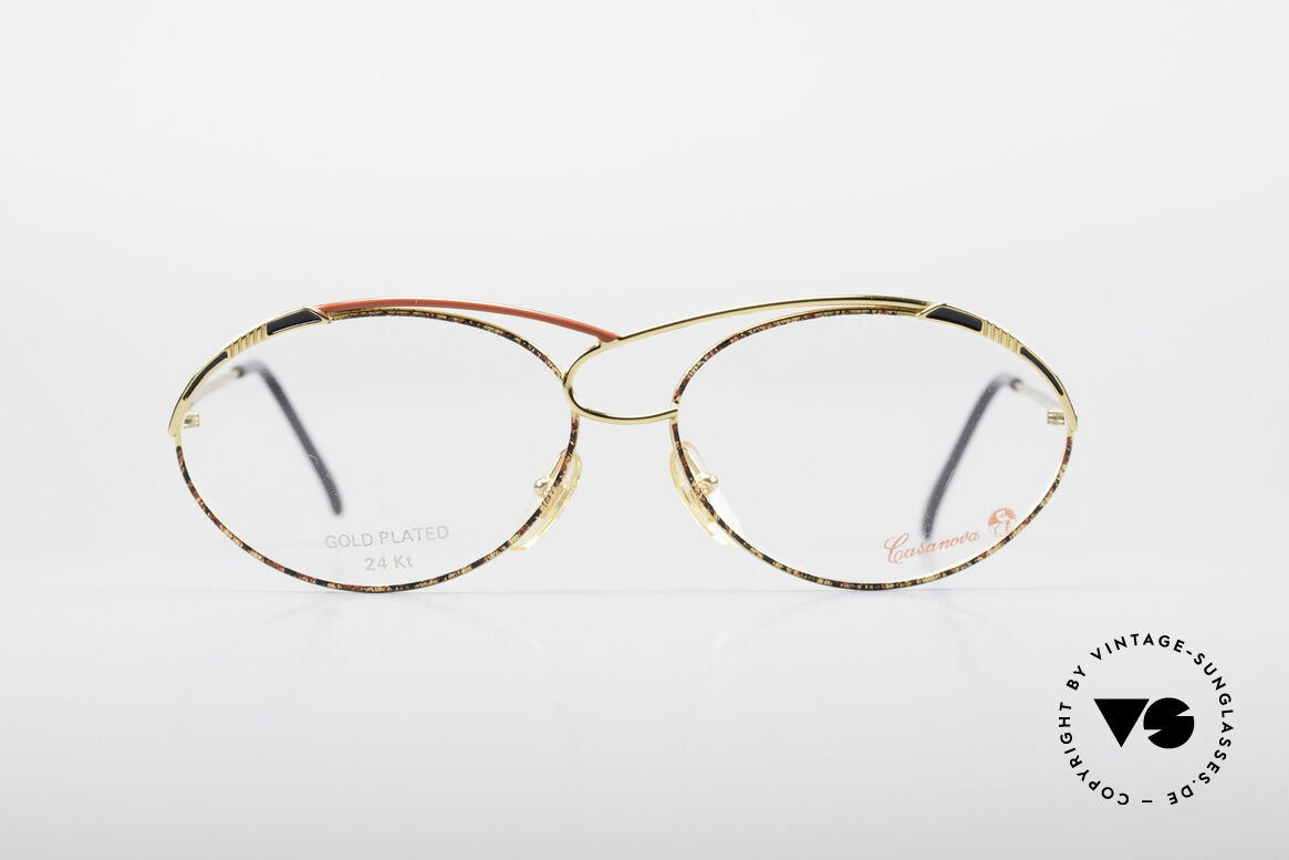 Casanova LC13 24kt Gold Plated Glasses, fantastic combination of colors, shape & functionality, Made for Women