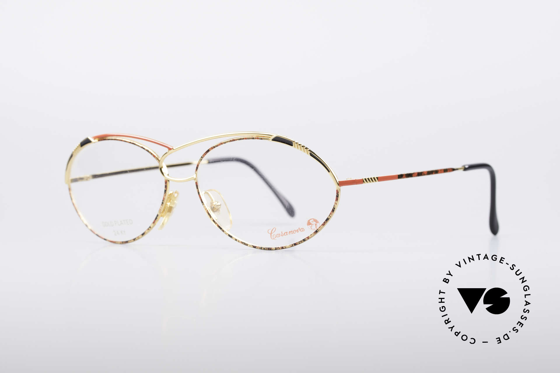 Casanova LC13 24kt Gold Plated Glasses, 24KT gold-plated frame (absolutely top-notch quality), Made for Women