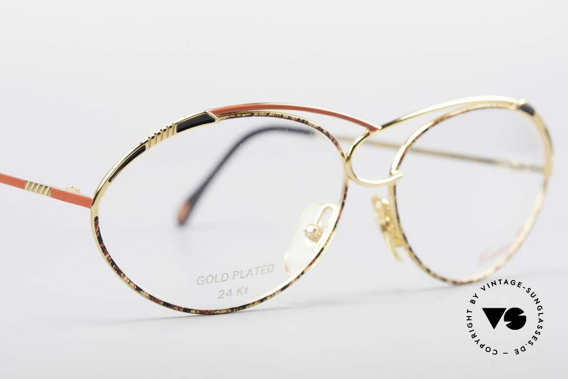 Casanova LC13 24kt Gold Plated Glasses, NOS - unworn (like all our artistic vintage 80's eyewear), Made for Women