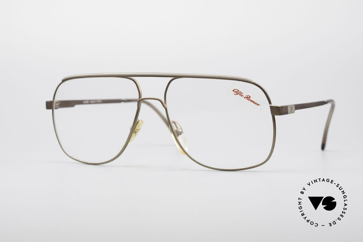Alfa Romeo 882-21 80's Vintage Glasses, sporty Italian vintage designer glasses by Alfa Romeo, Made for Men
