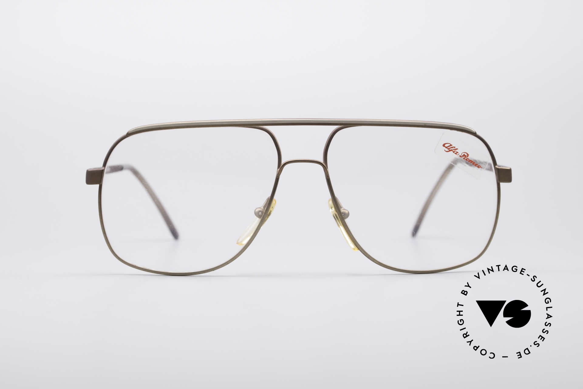 Alfa Romeo 882-21 80's Vintage Glasses, palpable superior crafting from Florence (from 1987), Made for Men