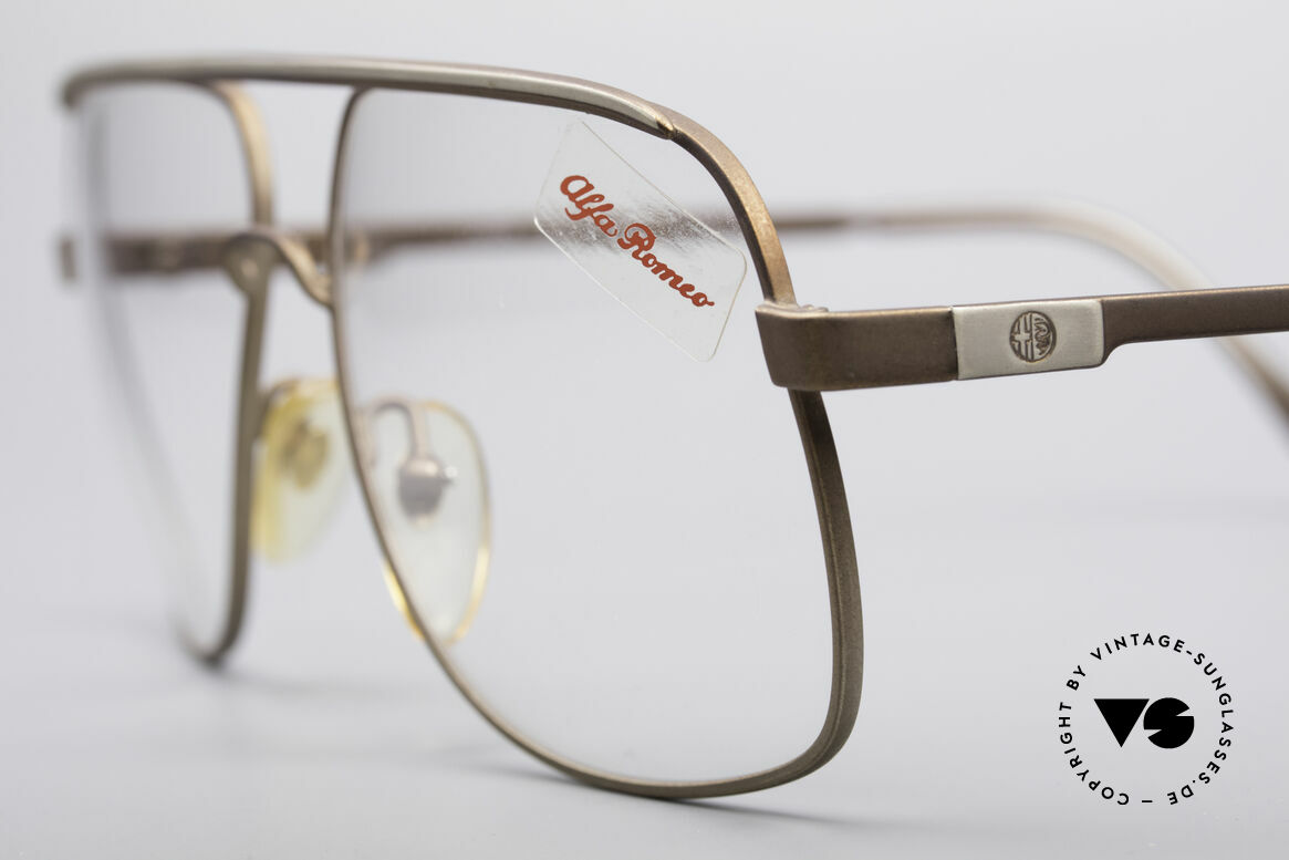 Alfa Romeo 882-21 80's Vintage Glasses, legendary Italian accessory for your classic sports car, Made for Men