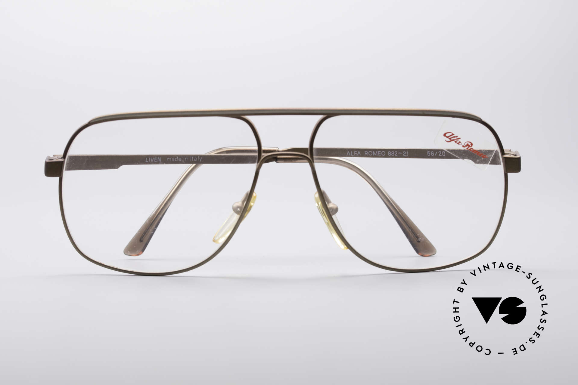 Alfa Romeo 882-21 80's Vintage Glasses, NO RETRO eyewear, but true vintage commodity; vertu, Made for Men
