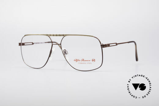 Alfa Romeo 60-252 80's Vintage Glasses Details