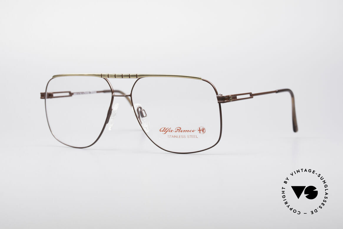 Alfa Romeo 60-252 80's Vintage Glasses, sporty Italian vintage designer glasses by Alfa Romeo, Made for Men