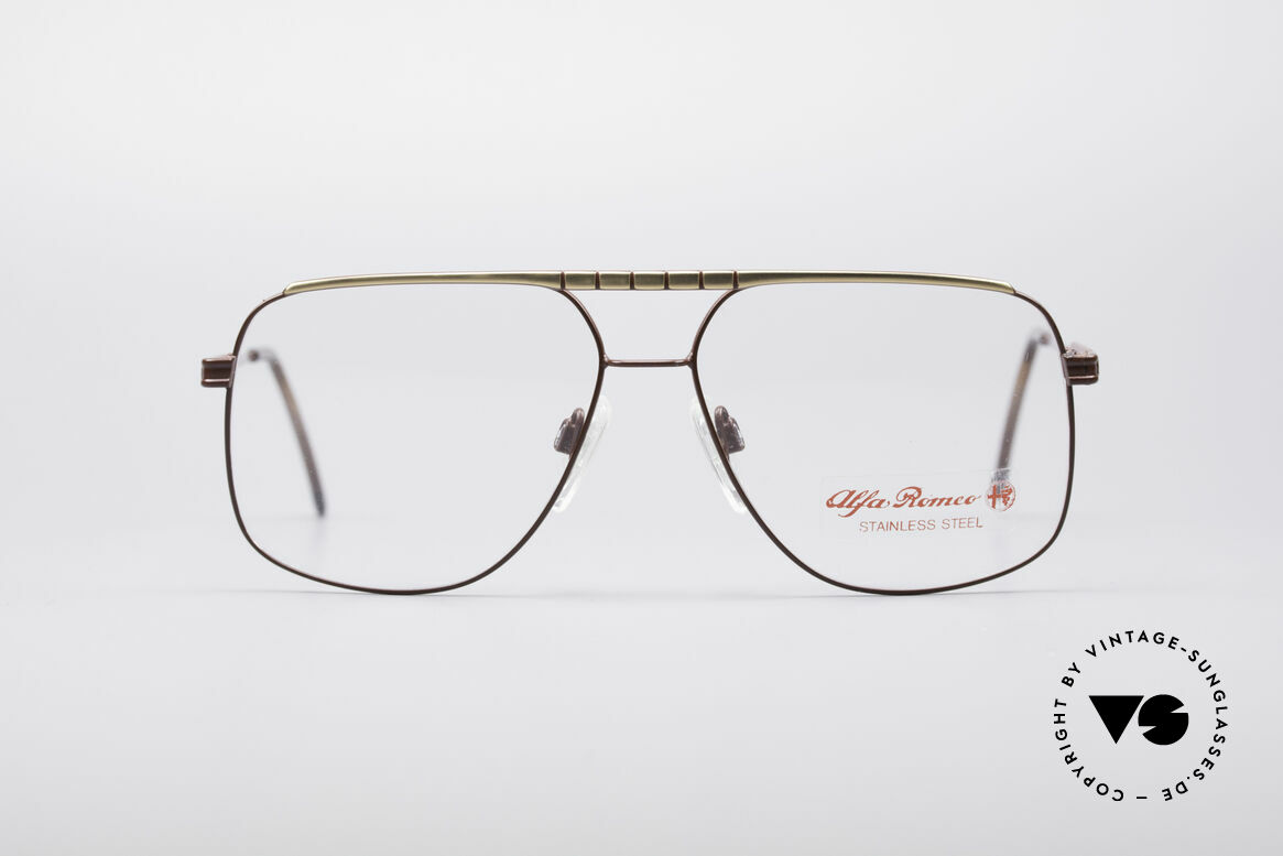 Alfa Romeo 60-252 80's Vintage Glasses, palpable superior crafting from Florence (from 1987), Made for Men