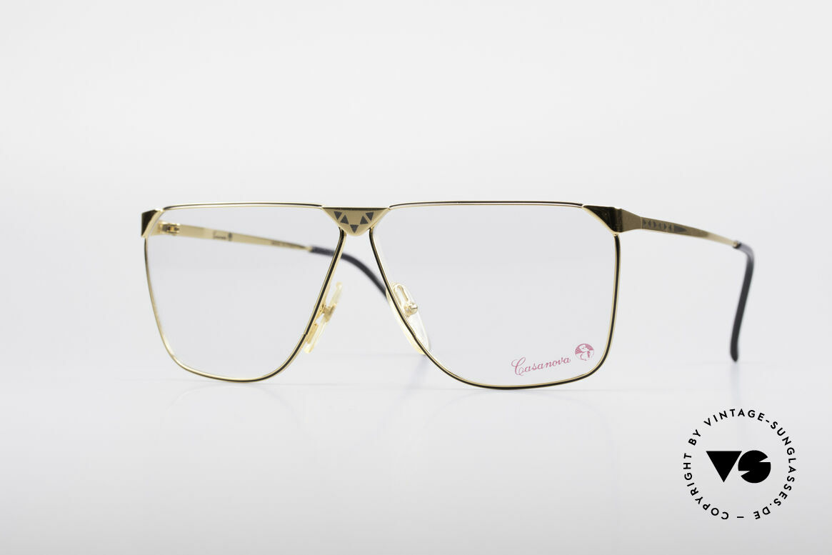 Casanova NM9 No Retro 80's Vintage Glasses, striking vintage Casanova glasses from around 1985, Made for Men
