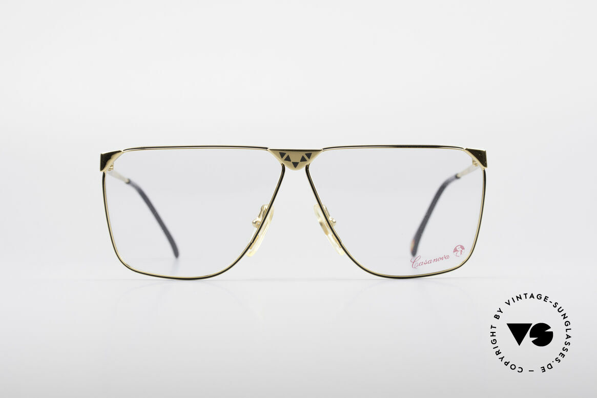 Casanova NM9 No Retro 80's Vintage Glasses, gold-plated frame (a matter of course, at that time), Made for Men
