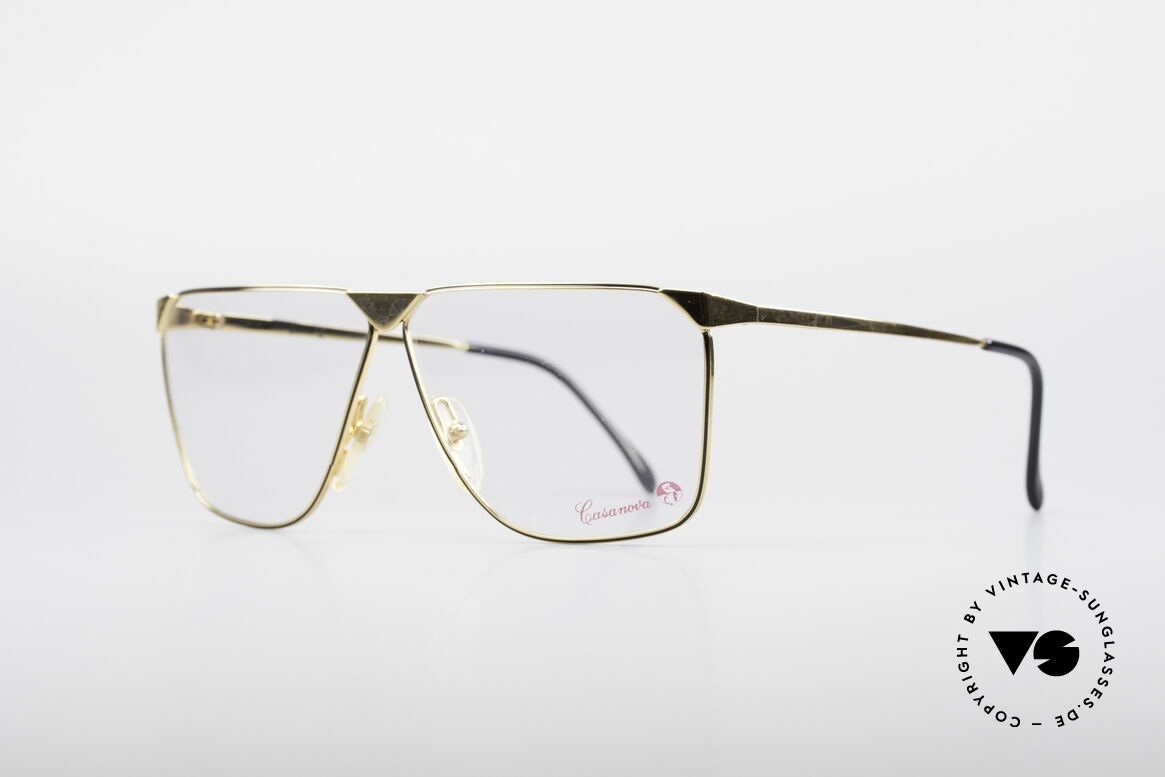 Casanova NM9 No Retro 80's Vintage Glasses, with black pattern on the front and on the temples, Made for Men