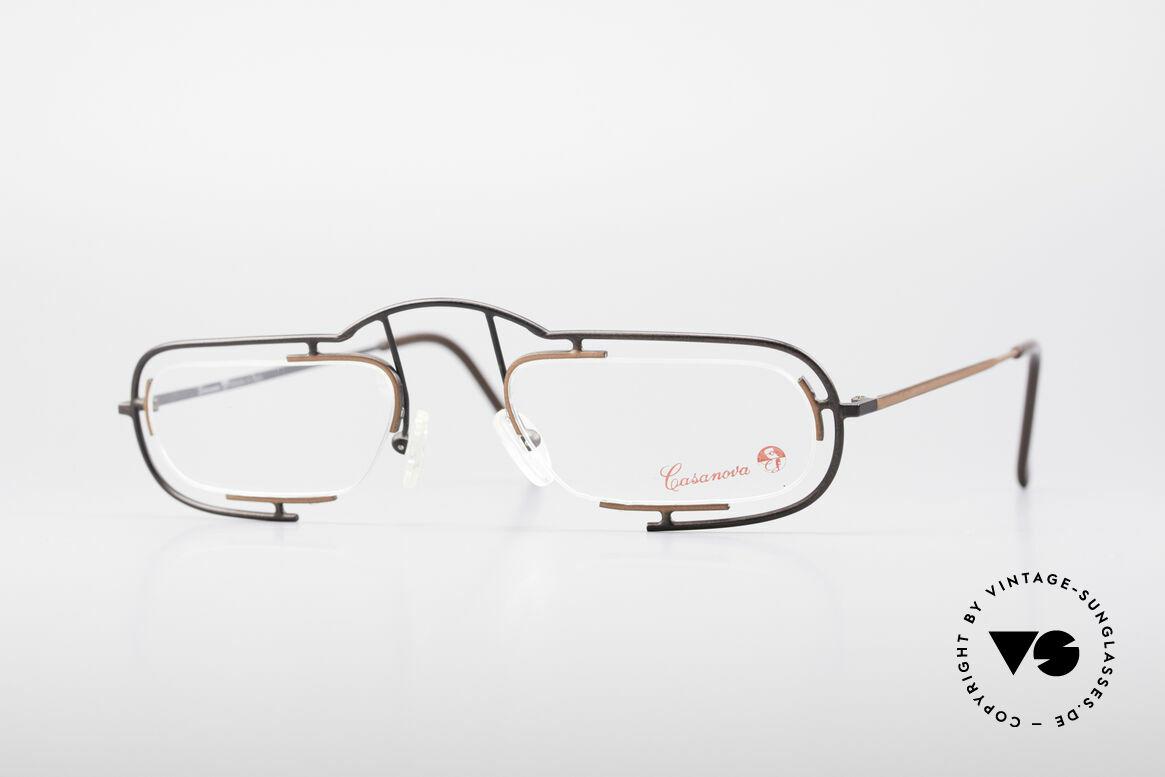 Casanova Clayberg Rare Vintage Eyglass Frame, interesting designer eyeglass-frame by Casanova, Made for Men and Women