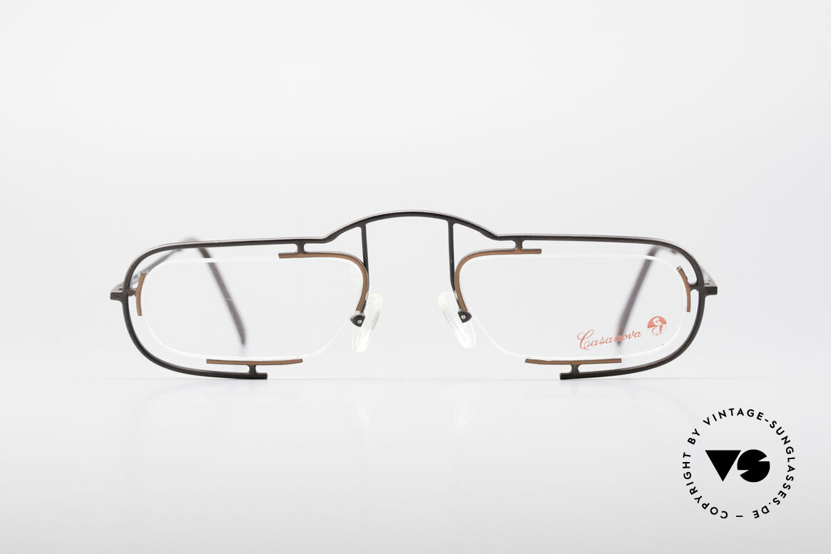 Casanova Clayberg Rare Vintage Eyglass Frame, brilliant frame construction with elegant colours, Made for Men and Women