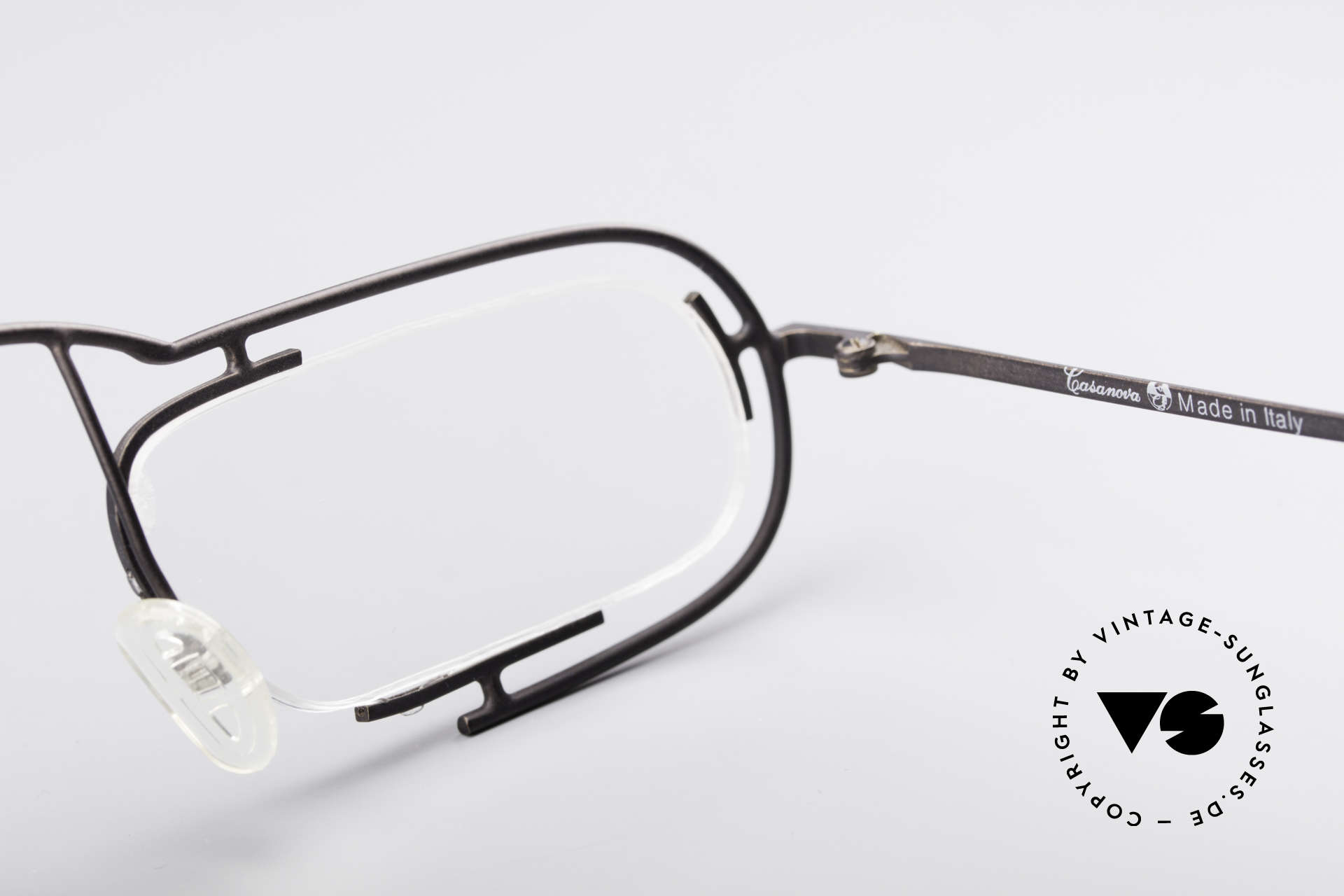 Casanova Clayberg Rare Vintage Eyglass Frame, the demos can be replaced with optical (sun)lenses, Made for Men and Women