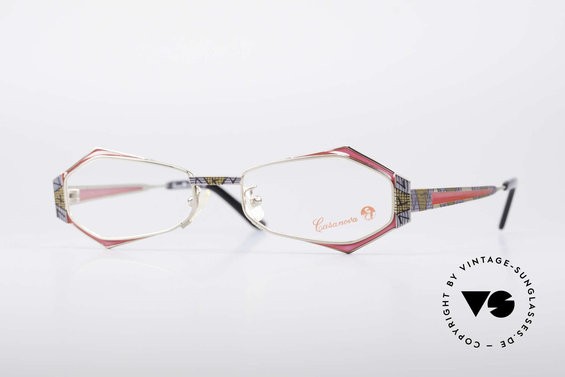 Casanova LC54 Ladies Vintage Frame, eye-catching Casanova vintage glasses of the 1990's, Made for Women