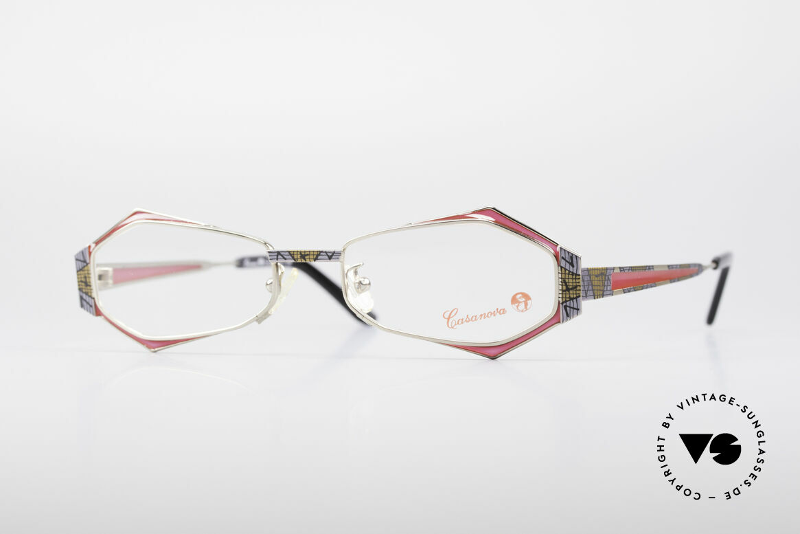 Casanova LC54 Ladies Vintage Frame, eye-catching Casanova vintage glasses of the 1990's, Made for Women