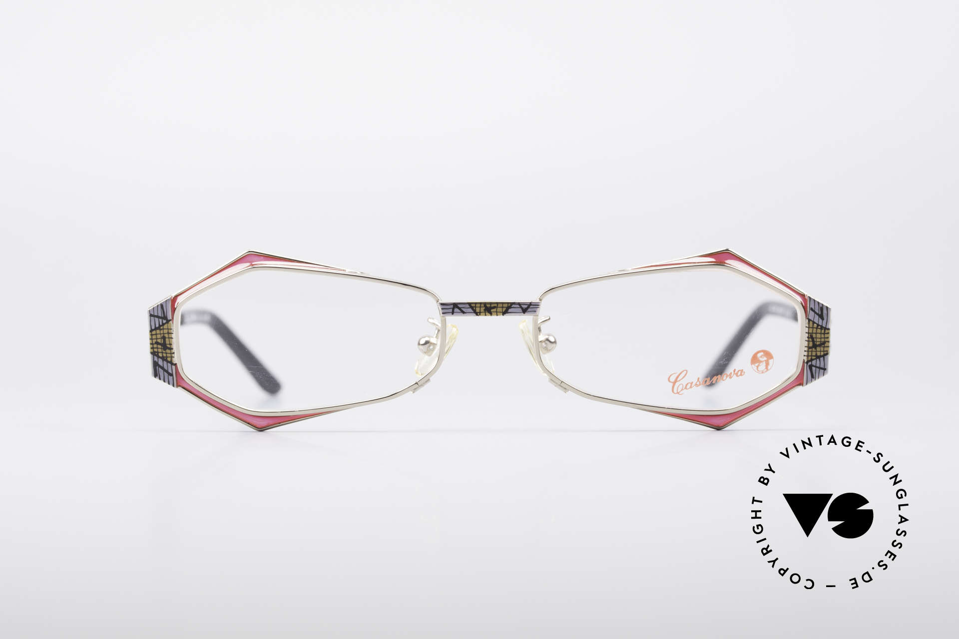 Casanova LC54 Ladies Vintage Frame, fantastic combination of colors, pattern and shapes, Made for Women
