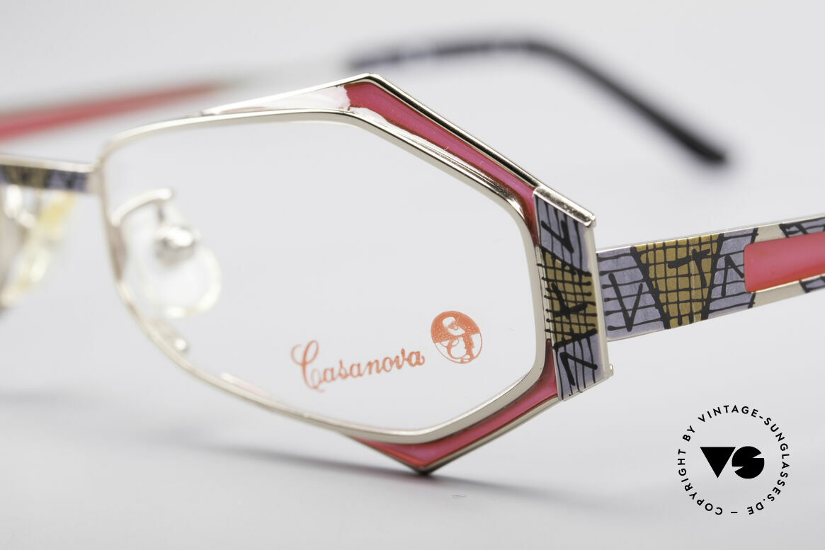 Casanova LC54 Ladies Vintage Frame, NOS - unworn (like all our colorful vintage glasses), Made for Women