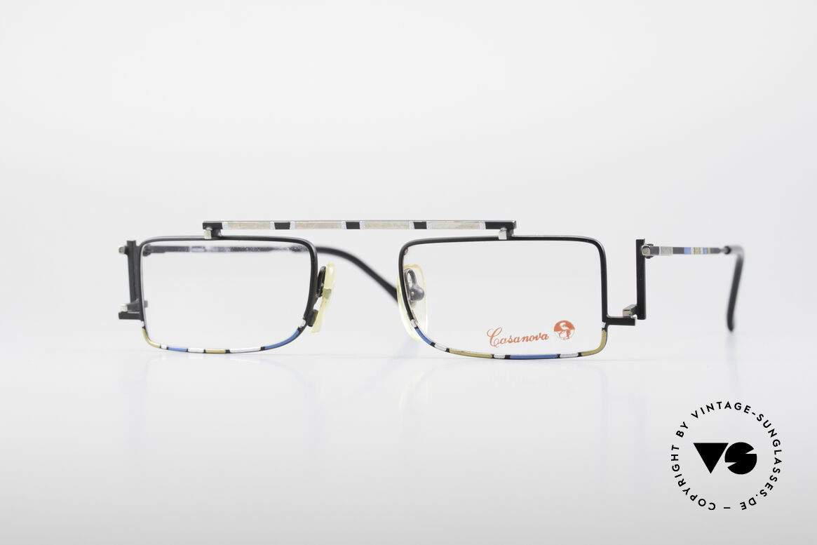 Casanova RVC3 Industrial Steampunk Frame, very interesting vintage 80's eyeglasses by CASANOVA, Made for Men and Women