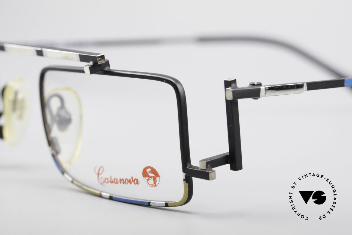 Casanova RVC3 Industrial Steampunk Frame, furthermore with subtle colors accents in yellow/blue, Made for Men and Women