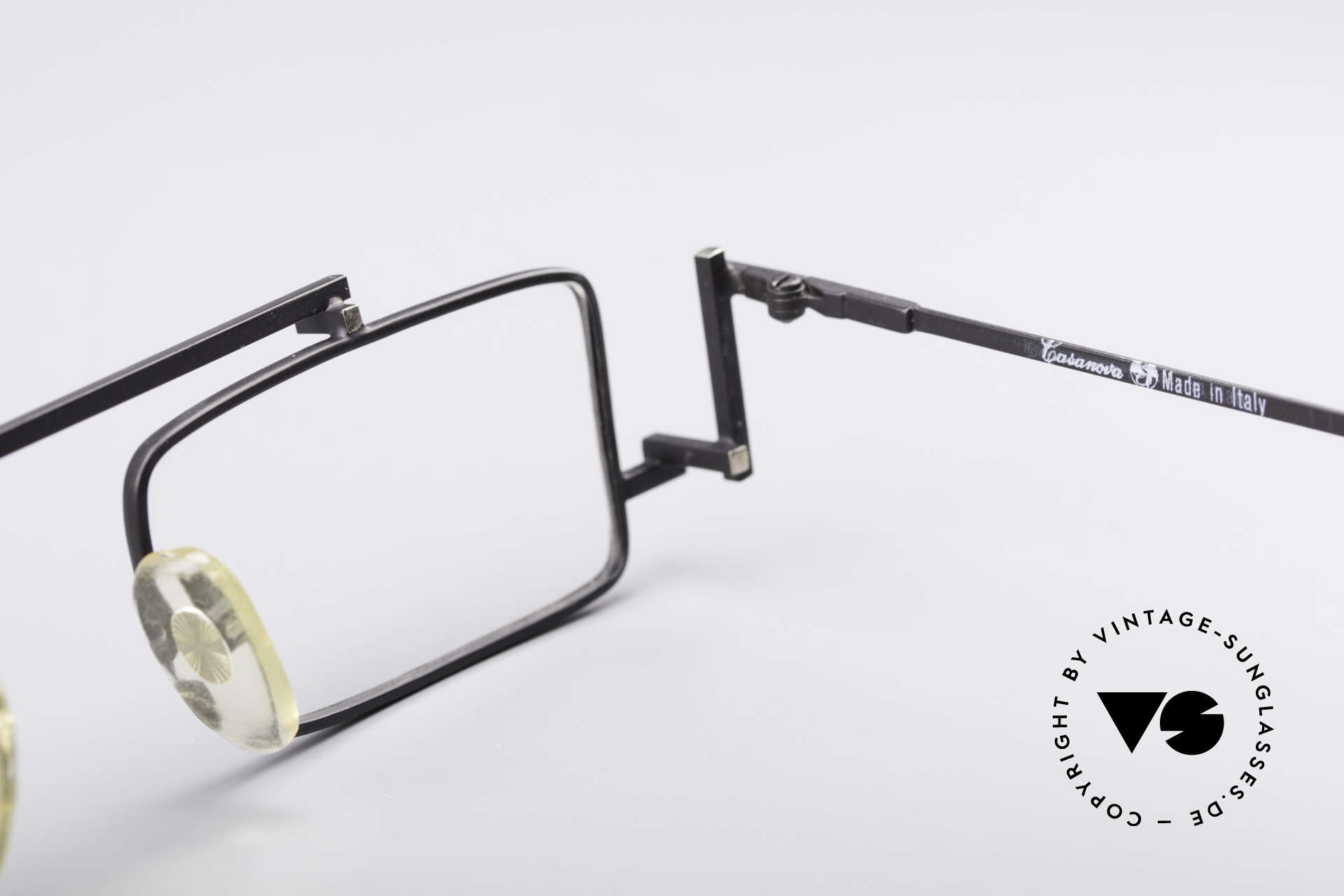 Casanova RVC3 Industrial Steampunk Frame, NOS - unworn (like all our rare vintage 80s eyeglasses), Made for Men and Women