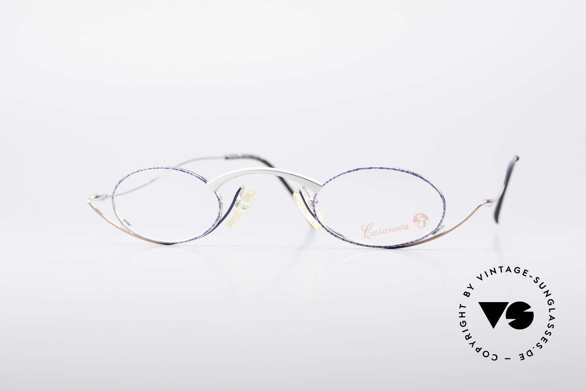 Casanova LC44 Artistic Reading Glasses, extraordinary vintage reading glasses by CASANOVA, Made for Men and Women