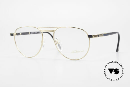 S.T. Dupont D004 Men's Luxury Aviator Glasses Details