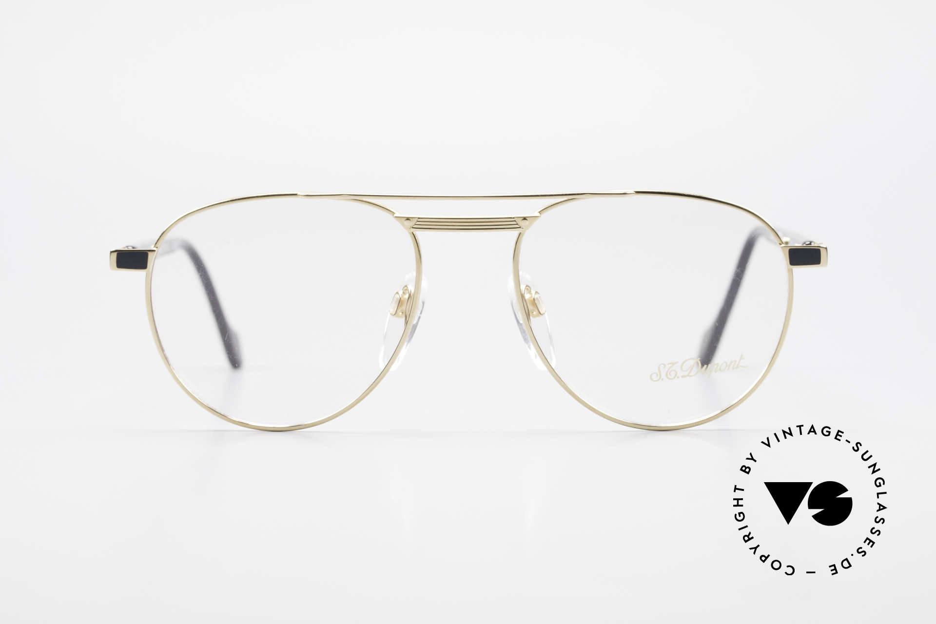 S.T. Dupont D004 Men's Luxury Aviator Glasses, top craftsmanship (all Dupont frames are gold-plated), Made for Men