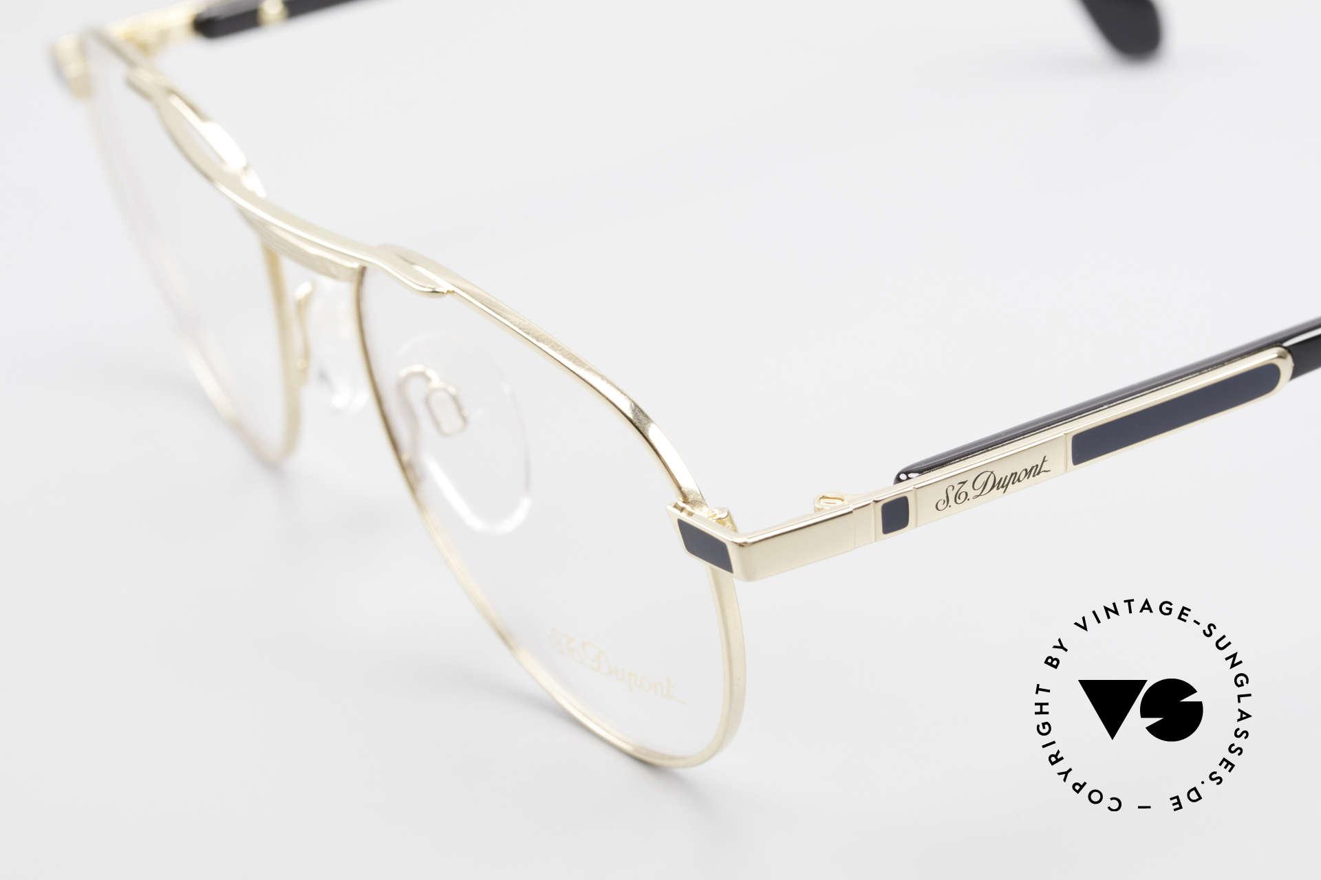 S.T. Dupont D004 Men's Luxury Aviator Glasses, incl. orig. S.T. Dupont certificate, hard case & packing, Made for Men