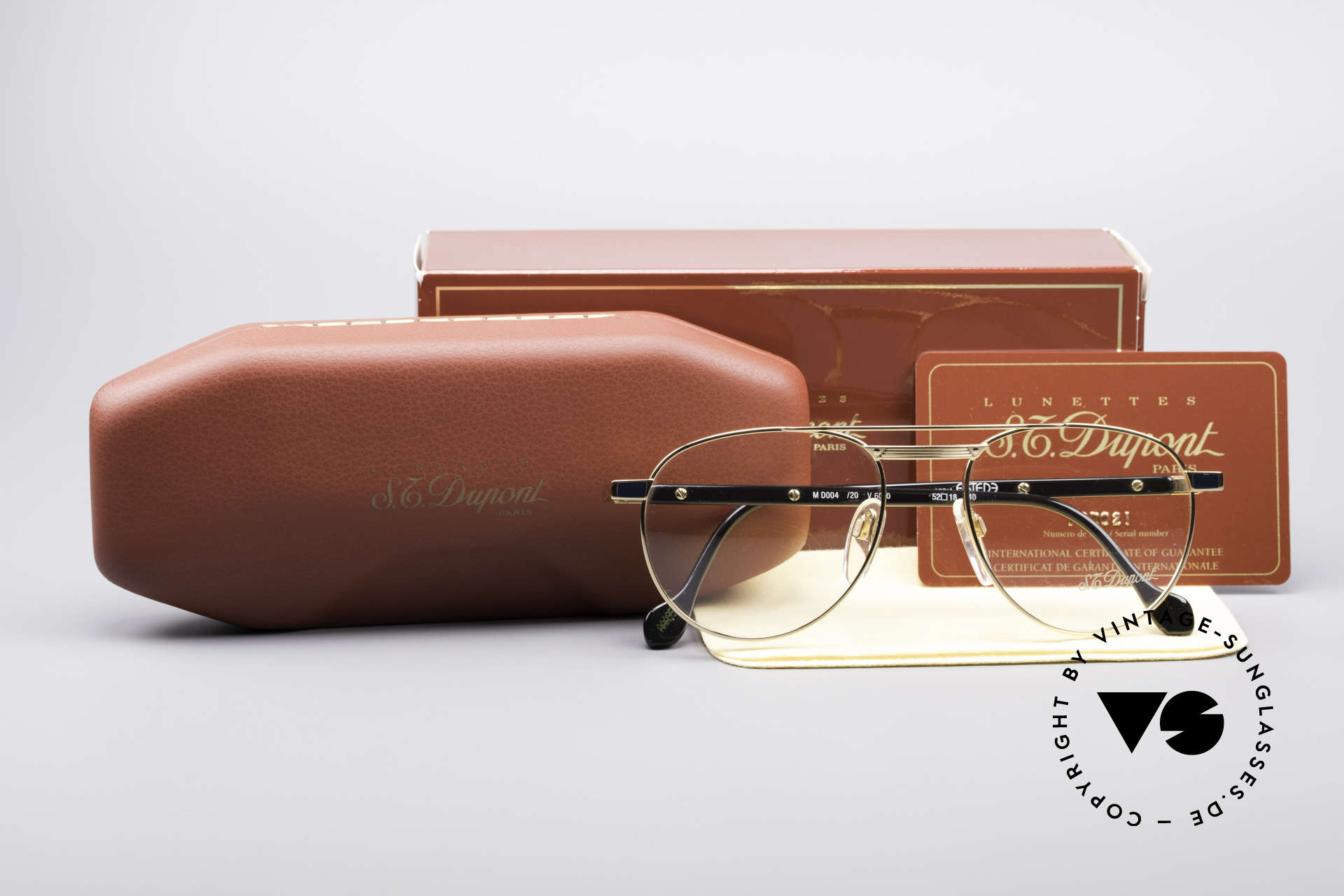 """S.T. Dupont D004 Men's Luxury Aviator Glasses, a vintage """"must-have"""" of incredible top-quality; vertu!, Made for Men"""