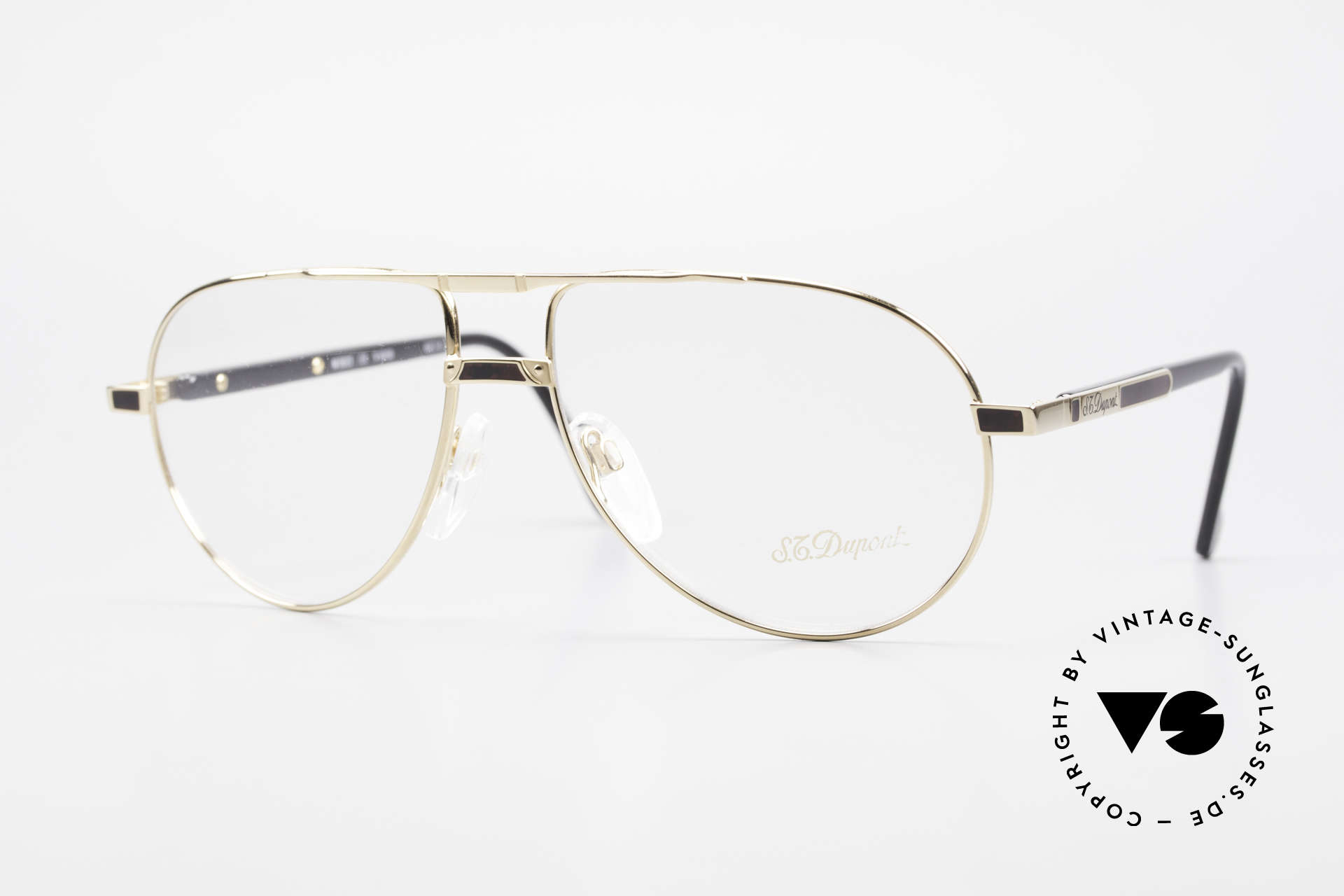 S.T. Dupont D023 Luxury Aviator Frame For Men, very exclusive S.T. DUPONT luxury glasses, size 60°15, Made for Men