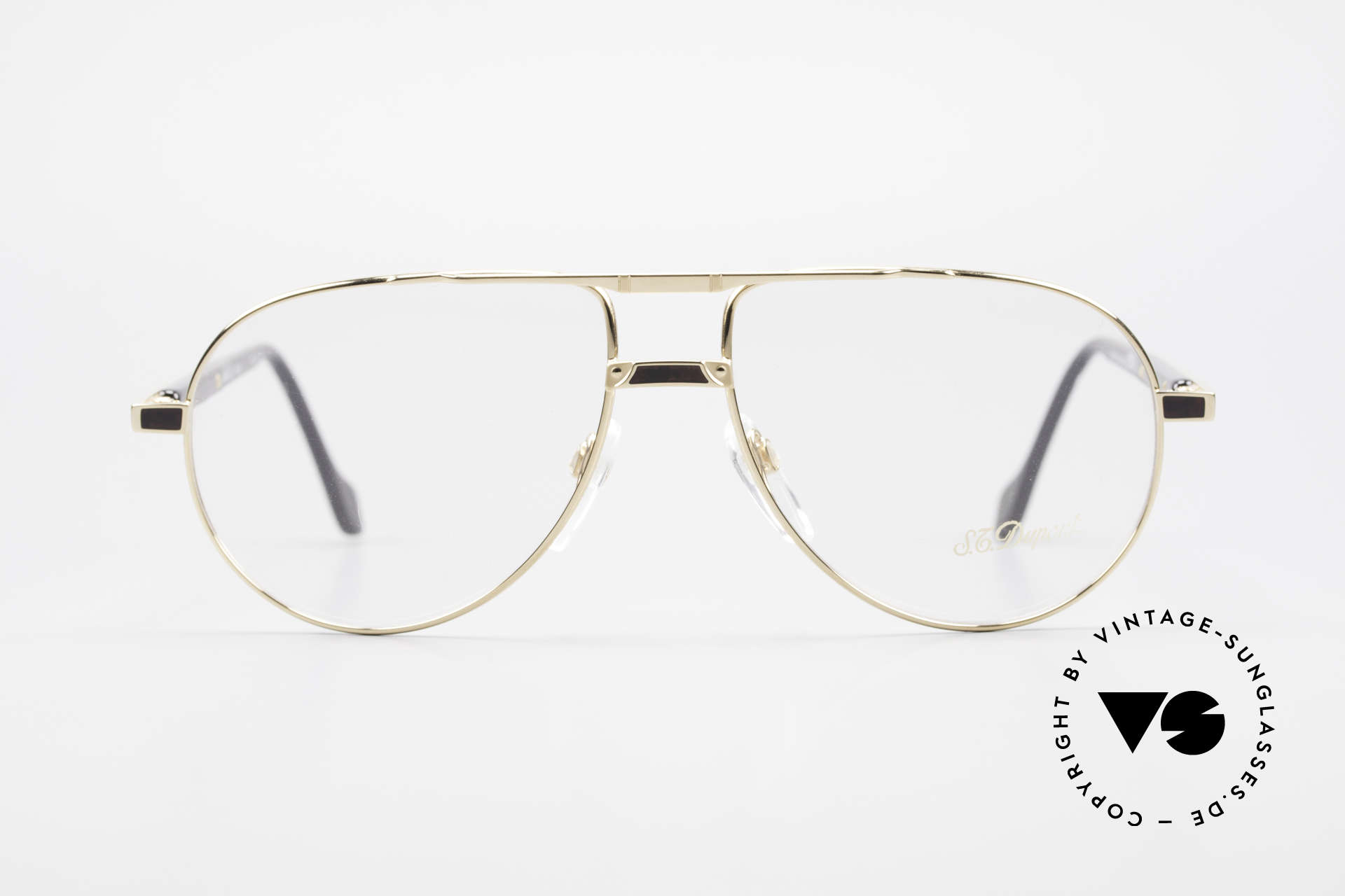 S.T. Dupont D023 Luxury Aviator Frame For Men, top craftsmanship (all Dupont frames are gold-plated), Made for Men