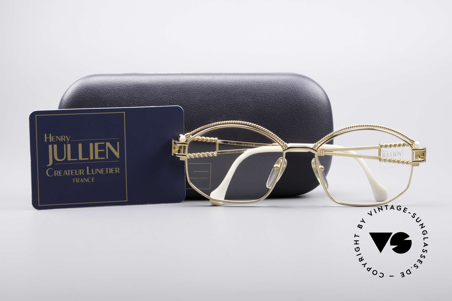 Henry Jullien Cizeta Jewellery Gold Frame, NO retro specs; but an authentic rarity from the 1980's, Made for Women