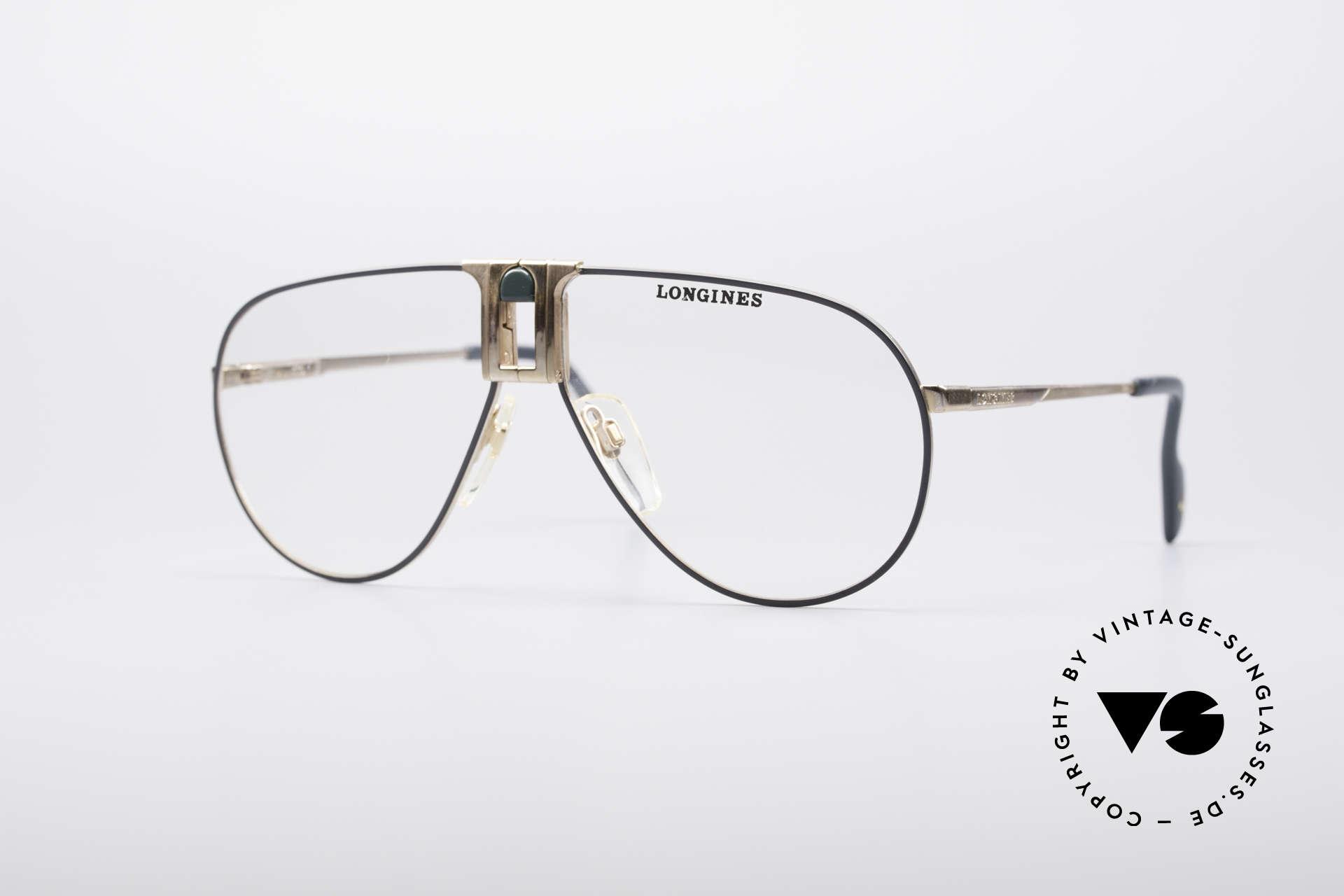 Longines 0154 1980's Aviator Glasses, high-end VINTAGE designer eyeglasses by LONGINES, Made for Men