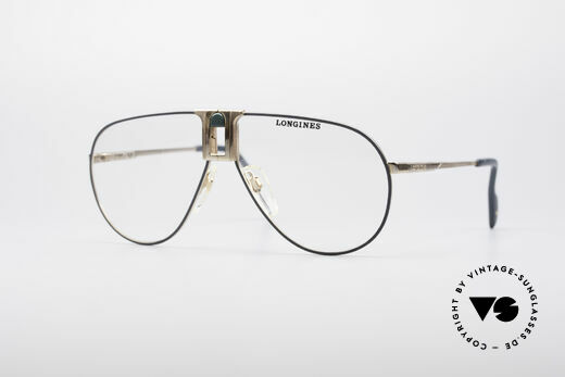 Longines 0154 1980's Aviator Glasses Details