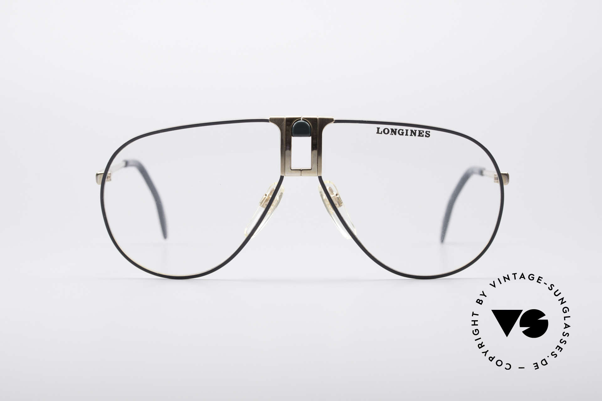 Longines 0154 1980's Aviator Glasses, precious frame with spring hinges (Metzler, Germany), Made for Men