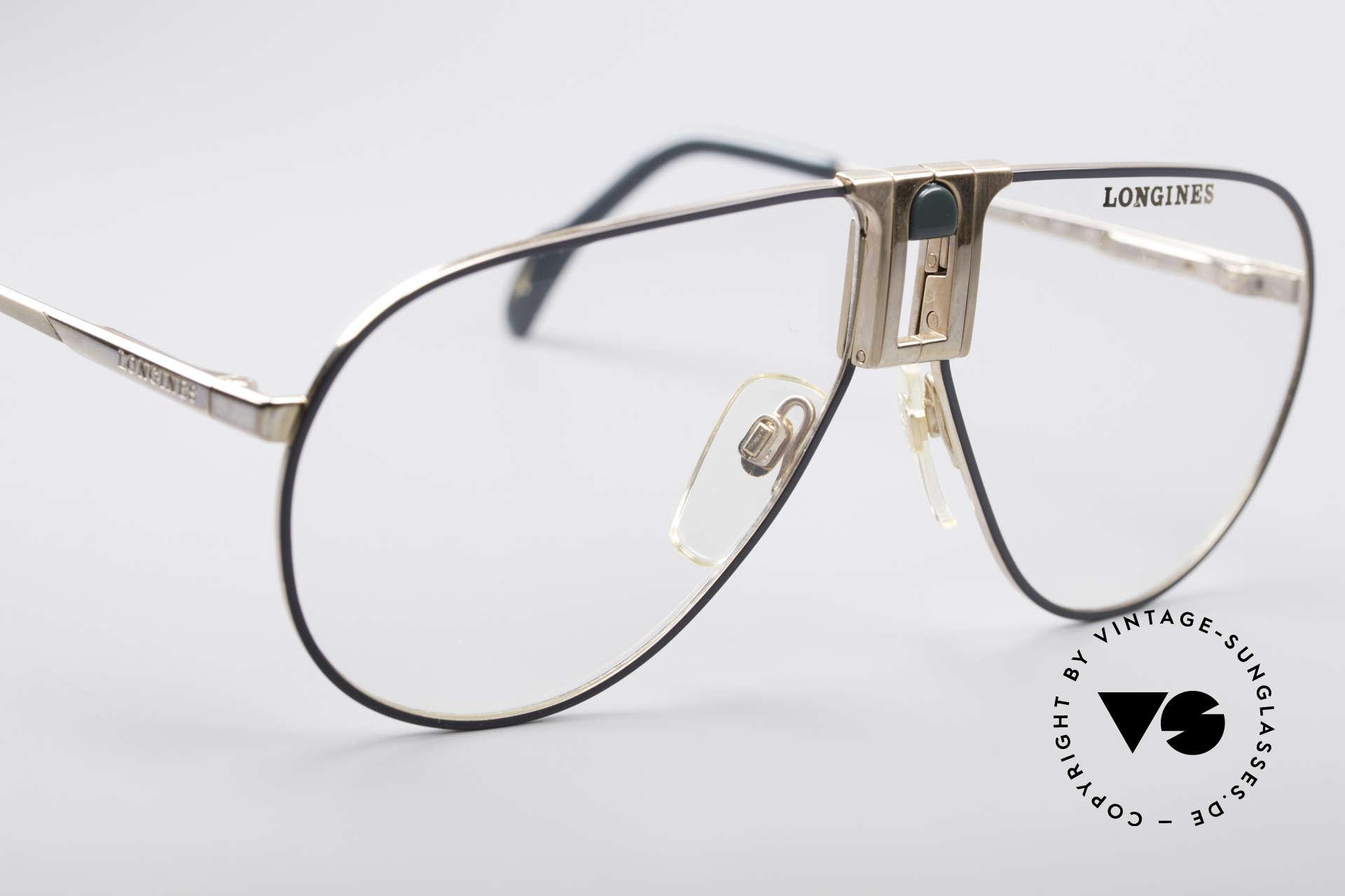 Longines 0154 1980's Aviator Glasses, never worn (like all our premium vintage eyeglasses), Made for Men