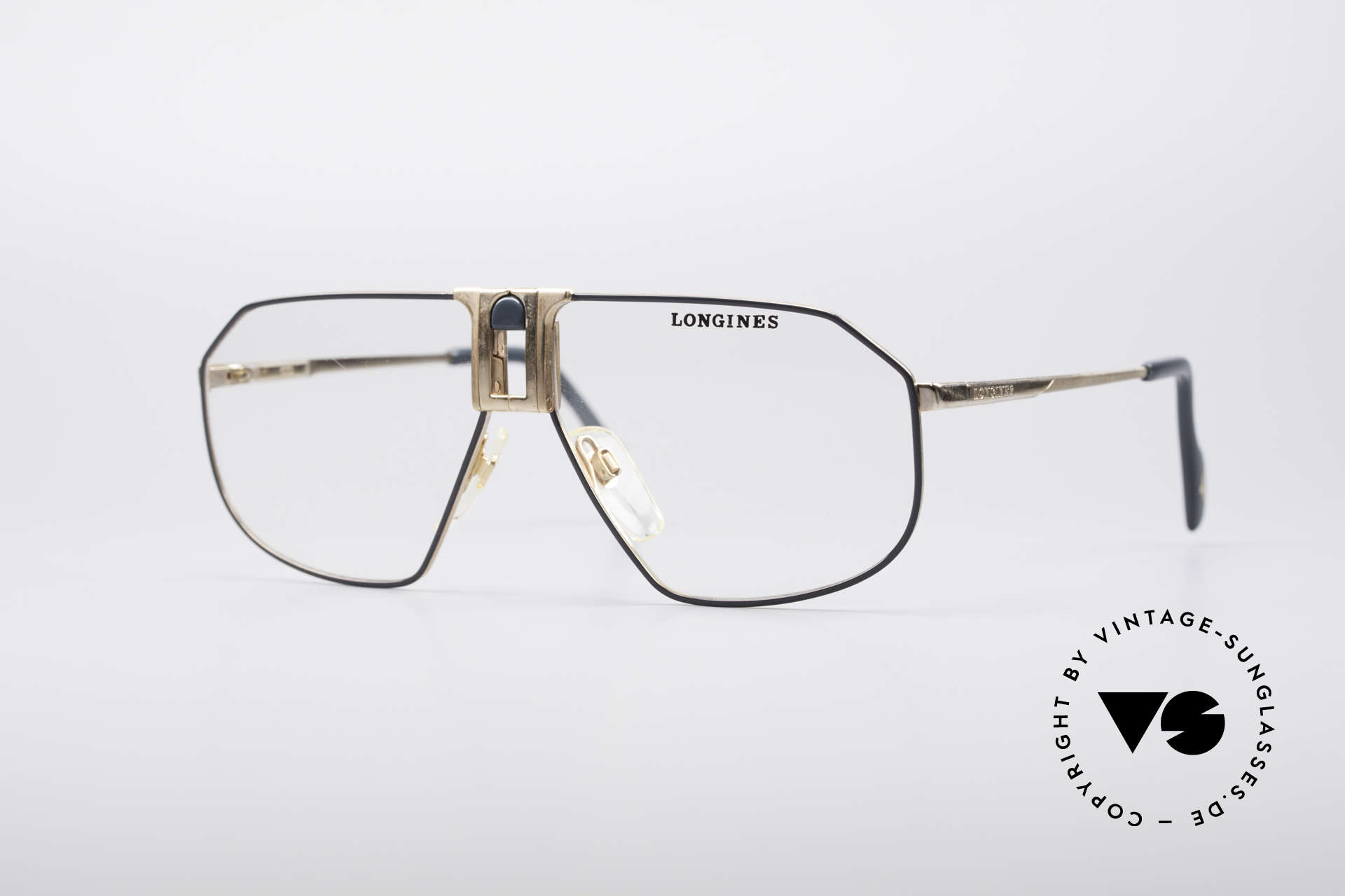 Longines 0153 80's Luxury Men's Frame, high-end VINTAGE designer eyeglasses by LONGINES, Made for Men